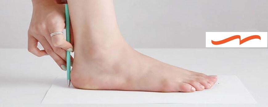 اندازه گیری سایز پا