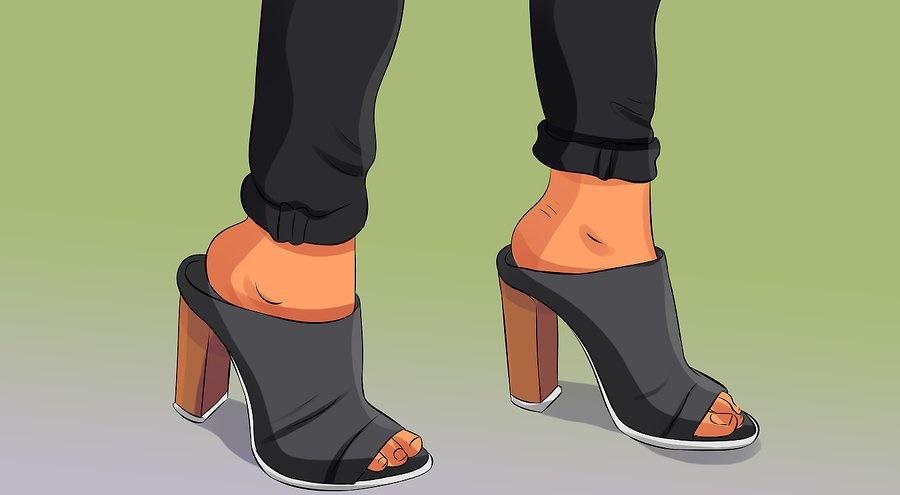 روش پوشیدن کفش مولی