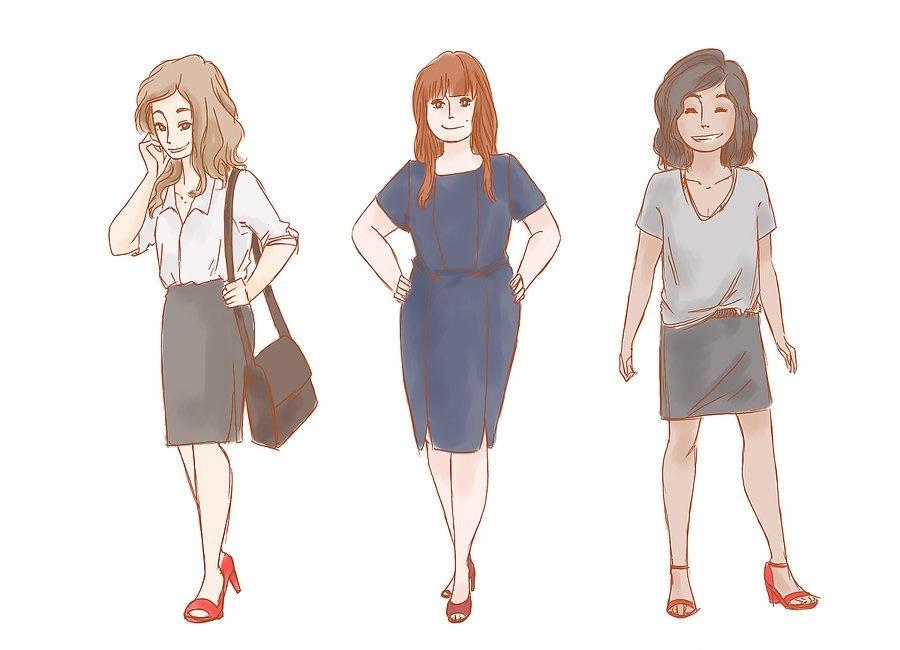 ست کفش قرمز با لباس های معمولی