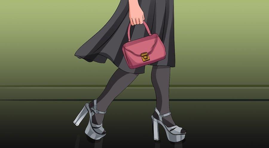 کفش مولی با دامن