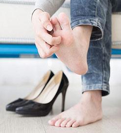 خارش پا - کفش شهپر