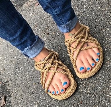 صندل طنابی - کفش شهپر