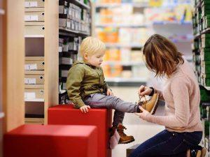 اندازه کفش کودک